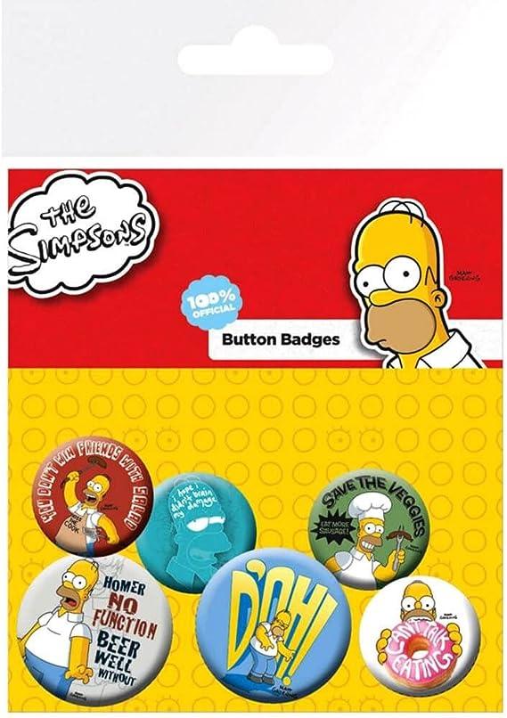 GB eye LTD, The Simpsons, Homer, Pack de Chapas: Amazon.es: Hogar