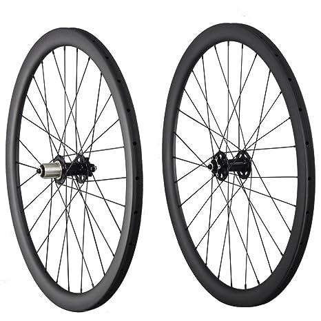 IMUST 40 mm Disco Freno Ciclocross/MTB Bicicleta de Fibra de Carbono Ruedas Clincher 28