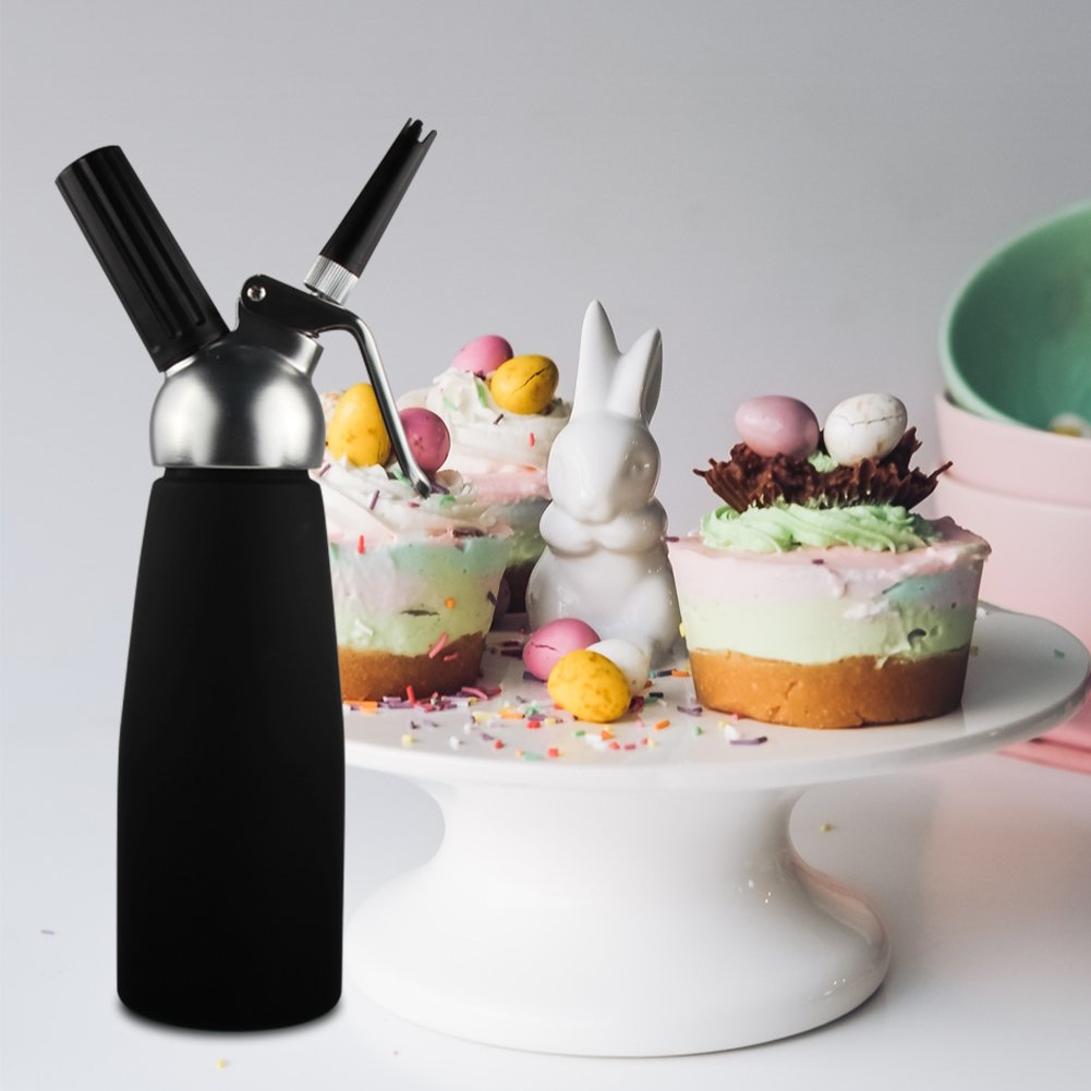 Sivaphe Cream Whipper Gourmet Whip Culinary Aluminum Threads Whipped Cream Dispenser Maker with 3 Decorating Nozzles Leak-proof - Use 8 Gram N2O Cream Chargers (Not Included) by Sivaphe (Image #7)