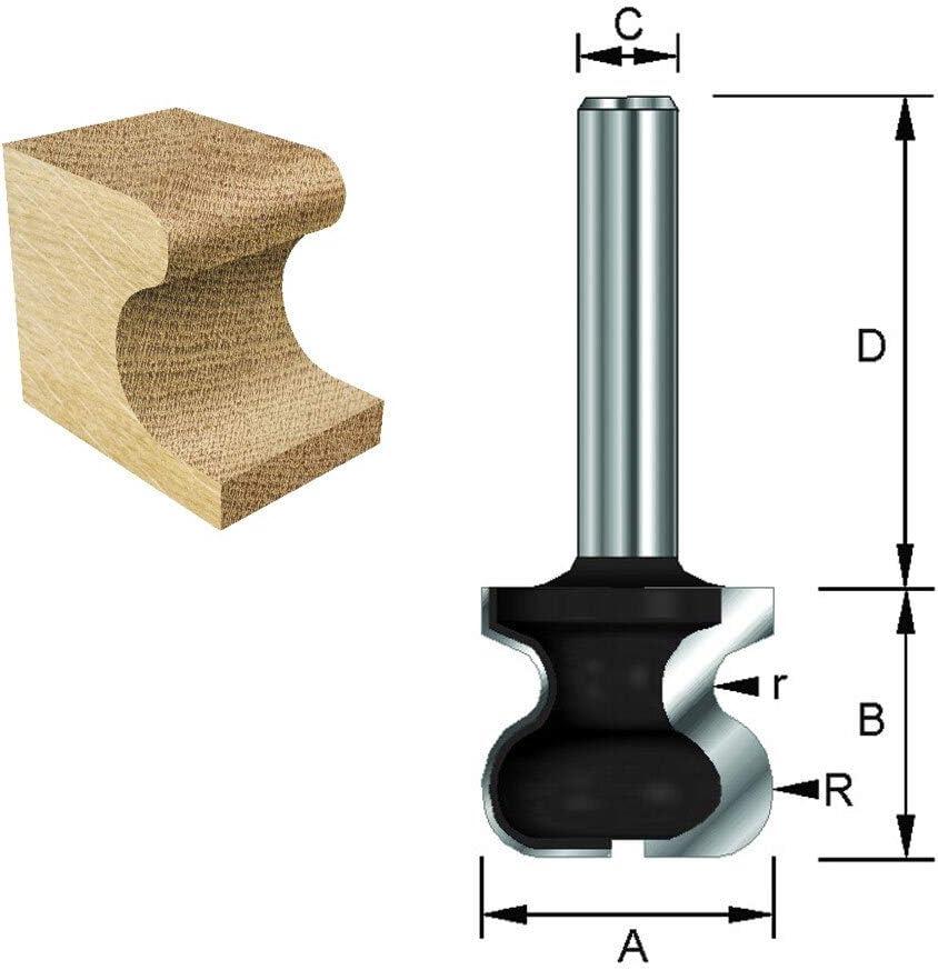 spessore 4,75 mm C A B 17,5 mm HM ENT 17100 Fresa per nastri GriD HW diametro spessore 2,4 mm 8 mm diametro 32 mm 19 mm gambo