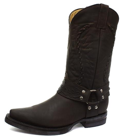 gran venta e97d5 108a9 Grinders Galveston para hombre, diseño de botas Biker Cowboy ...
