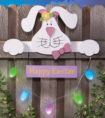 Led Easter Bunny Fence