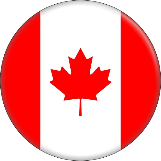 Amazon Com Canadian Flag The Maple Leaf L Unifolie 1 5 Round Button Clothing