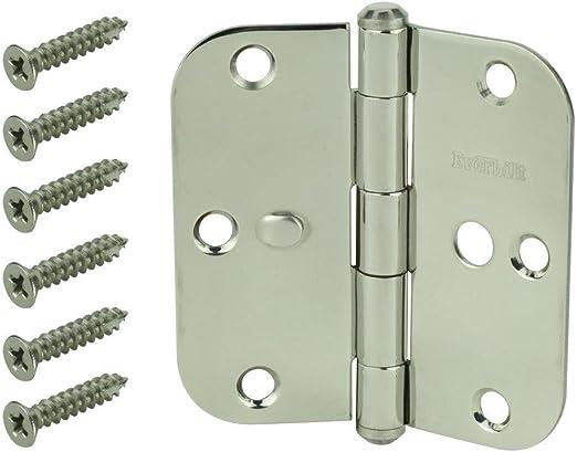 Radius Security Door Hinge Pack Of 4 Stainless Steel 5//8 in Everbilt 3-1//2 in