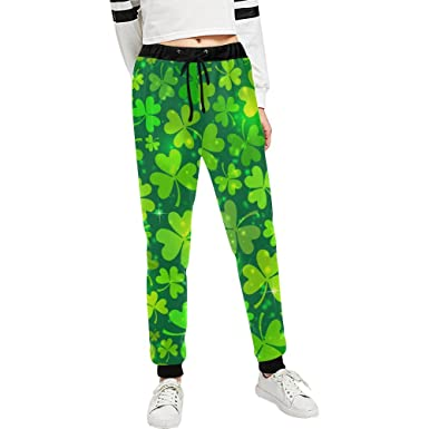 67d6102cd INTERESTPRINT St. Patrick's Day Custom Jogger Athletic Sweatpants Casual  Pants with Pockets for Sport Running