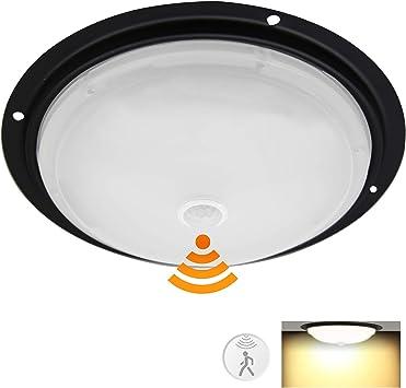 Motorhome Boat Water Proof IP 66 Porch Light Security Light Trailer Camper 12Volt DC Interior Light//Exterior Light for RV Facon 8-1//2 LED Ceiling Dome Light with PIR Motion Sensor