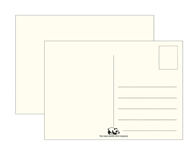 Cartoline Blanko, vuote, da riempire con scritte o disegni; carta vintage extra spessa riciclata; per bambini e adulti the lazy panda card company
