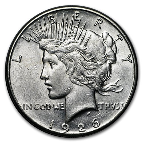 (1926 S Peace Dollar AU $1 About Uncirculated)