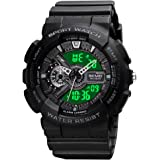 Mens Digital Sports Watch Large Face Sports Outdoor Waterproof Military Chronograph Wrist Watches for Men with Date Multifunc