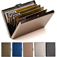 RFID Credit Card Holder Metal Wallet Stainless Steel Credit Card Protector Case for Men or Women
