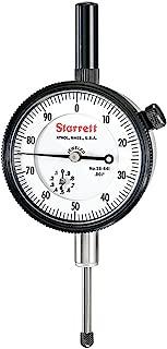 "product image for Starrett Dial Indicator, 25-441J WCSC – Lug On Center Back, Jeweled Bearings, 0-100 Reading, 0 - 1"" Range, 0.001"" Graduation, 0.375"" White Stem Dial"