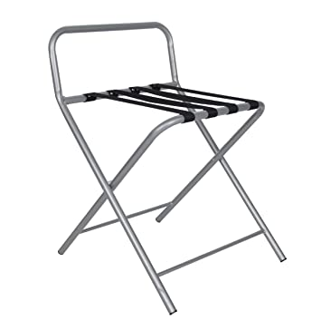 NEW Foldable Luggage Rack Hotel Bedroom Folding Suitcase Stand .