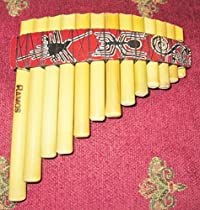 Professional Curved Small Antara Pan Flute 13 Pipes Inca Motif Case Included Item in USA