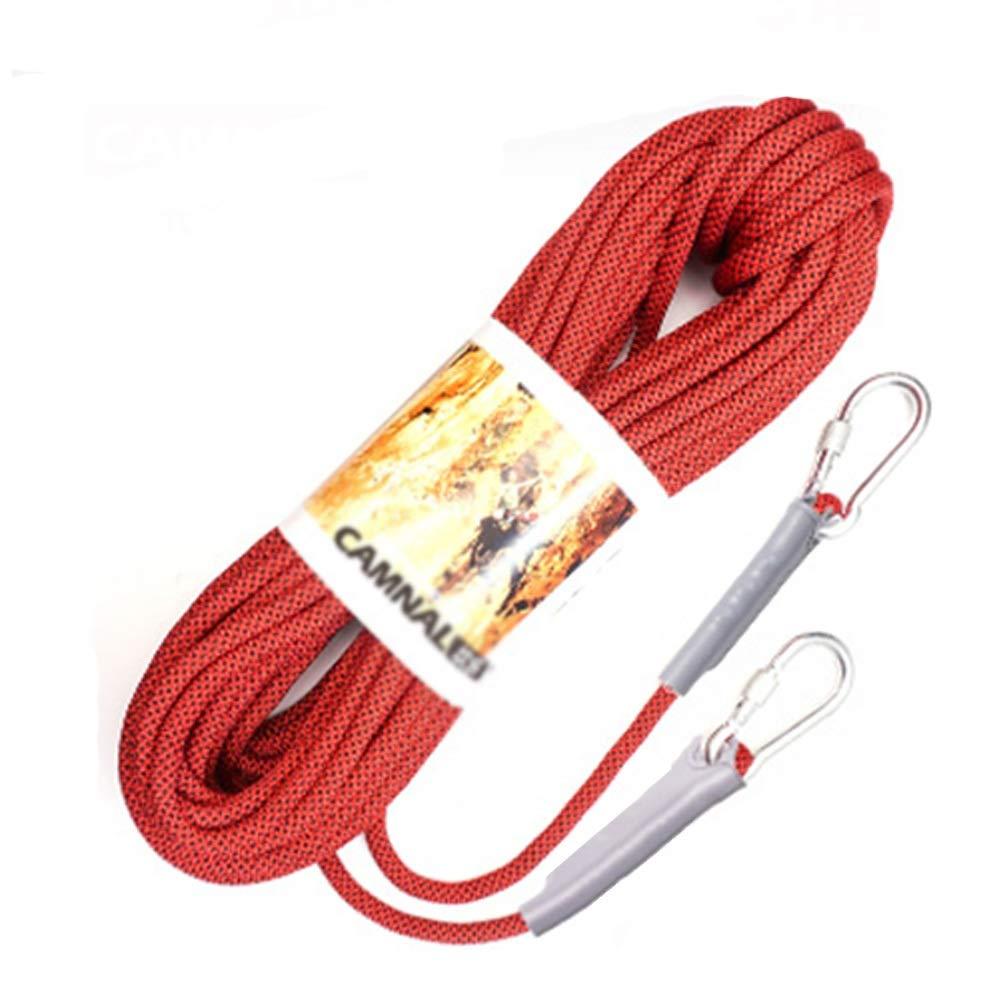 Diameter 12mm Escalade Corde Corde d'escalade de 8-12mm, Corde de sécurité, Corde d'escalade extérieure de Corde à Linge multifonctionnelle, Rouge 100m