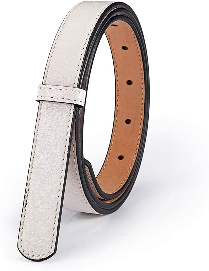 Vatees Genuine Leather Replacement Belts For Women Without Buckle Dress Belt Strap Wide 29mm//20mm