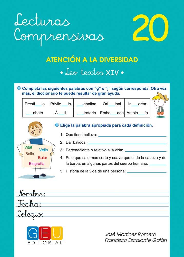 Lecturas comprensivas 20 / Editorial GEU / 6º Primaria ...