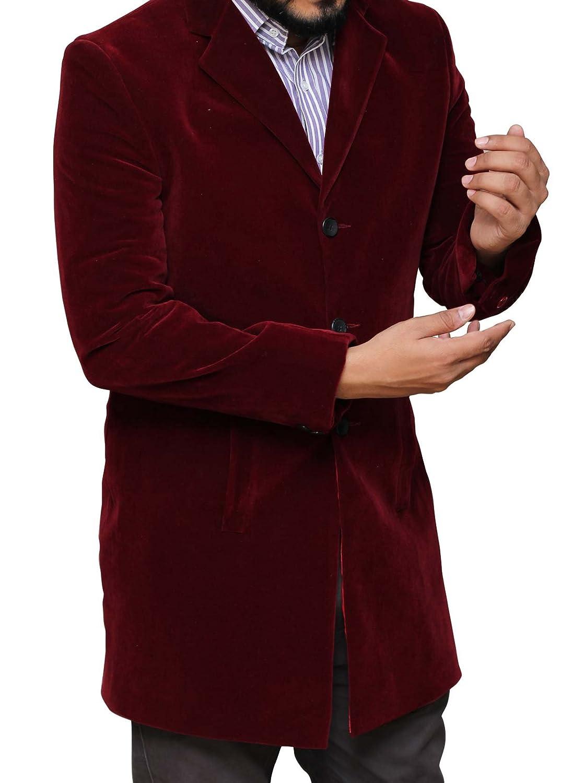 Peter Capaldi Doctor Who Coat Maroon Velvet Coat
