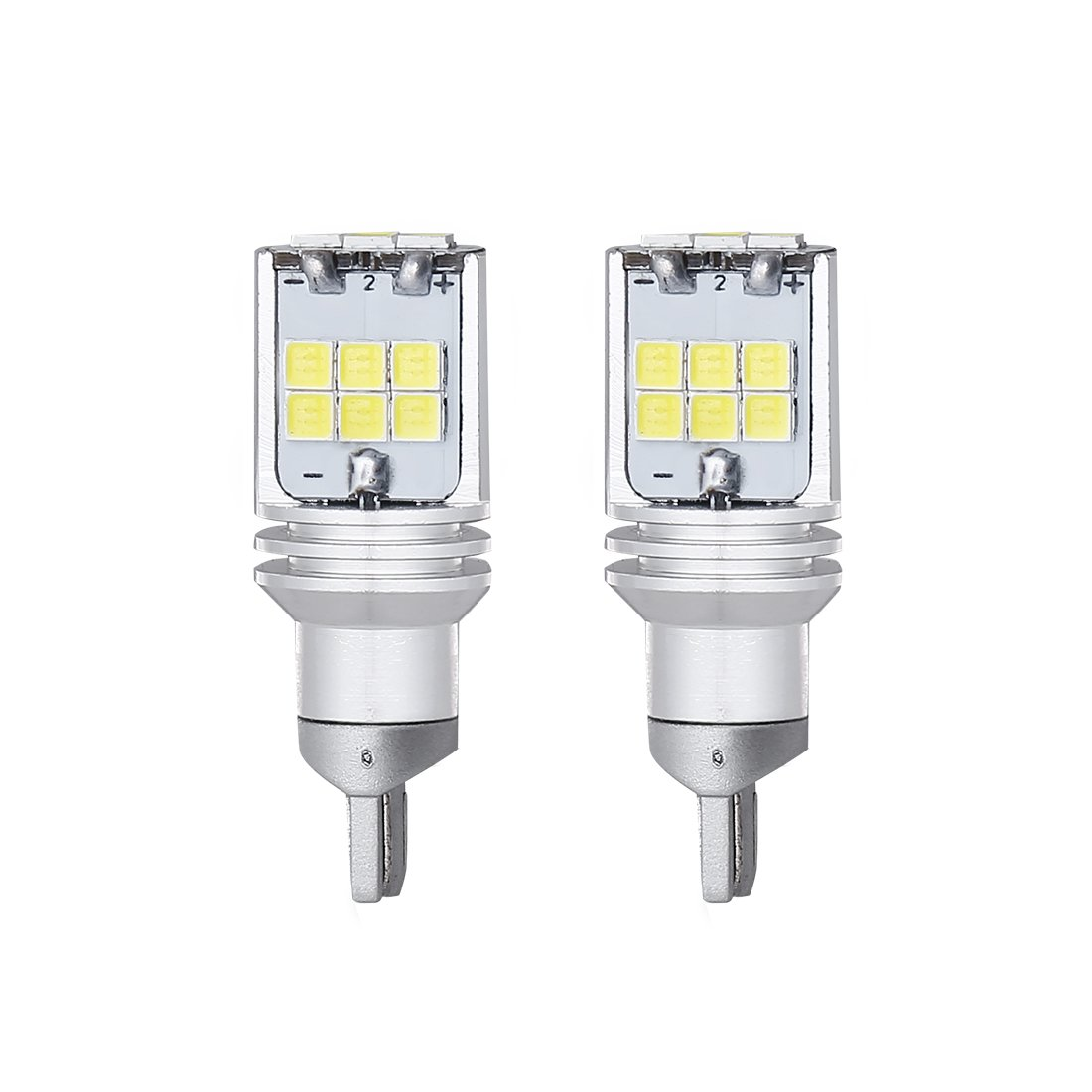 2pcs 1000 lumens Extremely Bright Canbus Error Free 921 912 T10 T15 SMD 4014 45pcs Chipsets LED Bulbs For Backup Reverse Lights, Xenon White 6000K CBT15-45D-4014W-2 SUPAREE