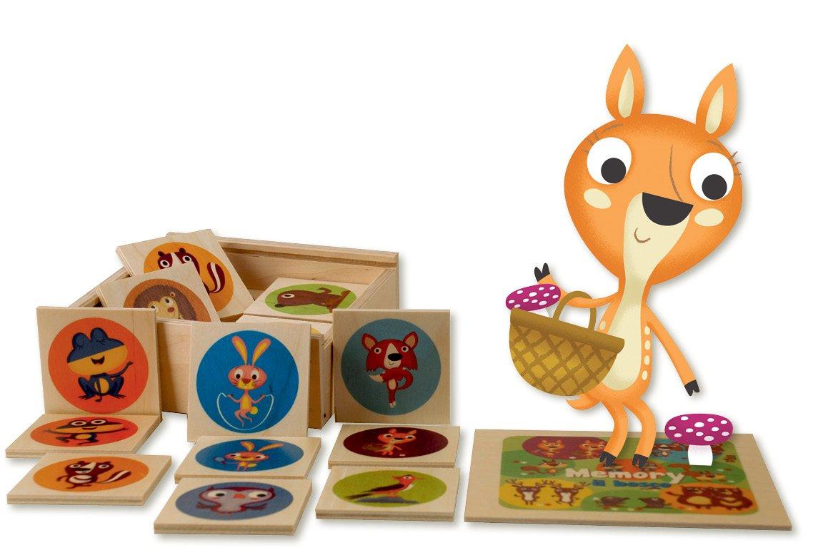DIDA – Mémo forêt – 24 pièces – Jeux Memory pour Enfant en Bois