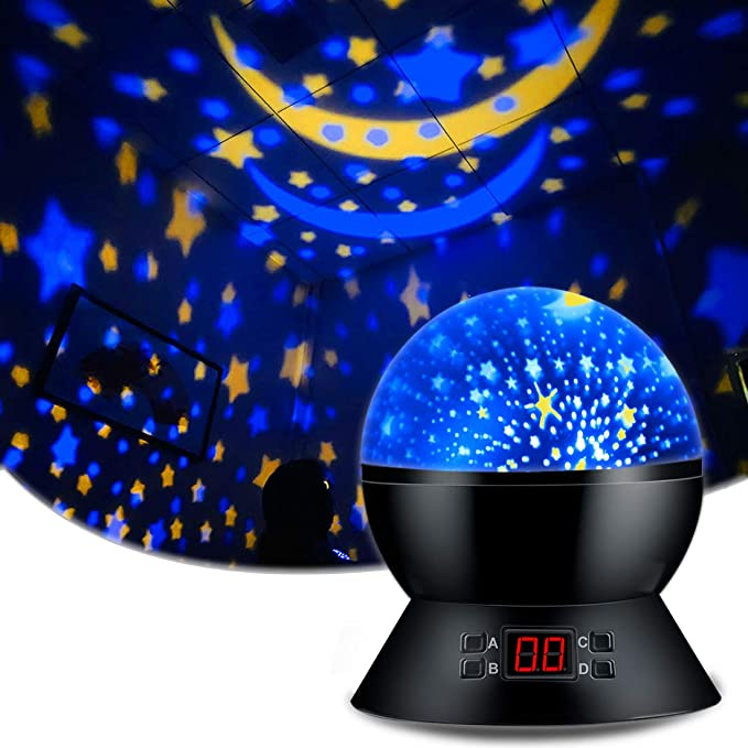 Mute for Sleep Star Night Light Projector 8 Color Light for Kids Toys iNassen Star Projector Night Lights for Kids Girl,Baby Star Light Projector for Bedroom Gift for 1-14 Year Baby Girls