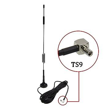 TS9 4G Antena, LTE Antenna Dual 12dBi Alto Ganancia Red Ethernet Al aire libre Antena
