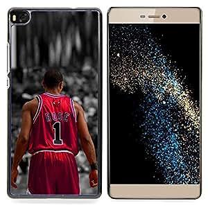- Rose 1 Basketball - - Cubierta del caso de impacto con el patr??n Art Designs FOR HUAWEI P8 Queen Pattern