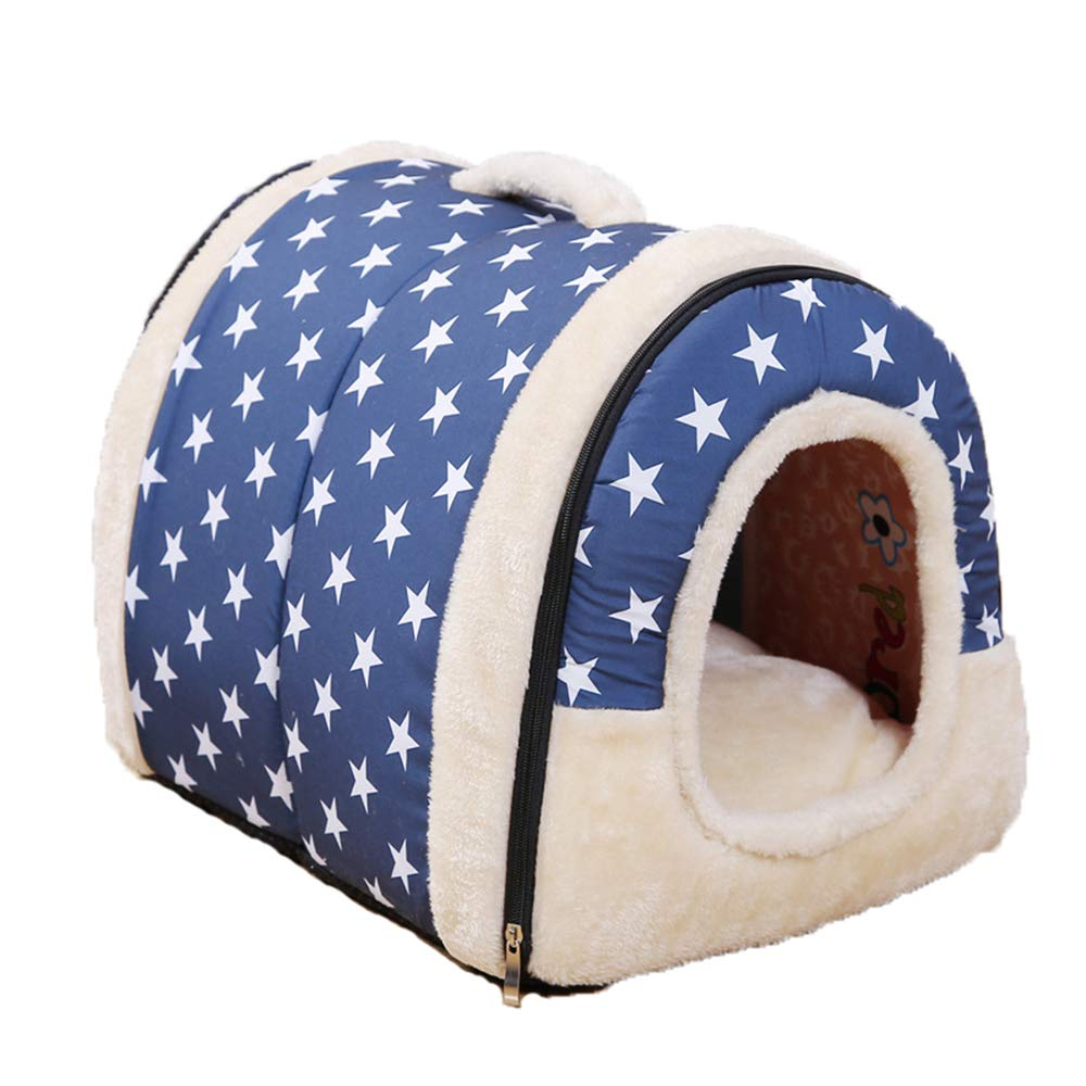 Small Kennel Removable and Washable Pets pet Bed cat Litter pet pad Dog cage cat cage cat House,S