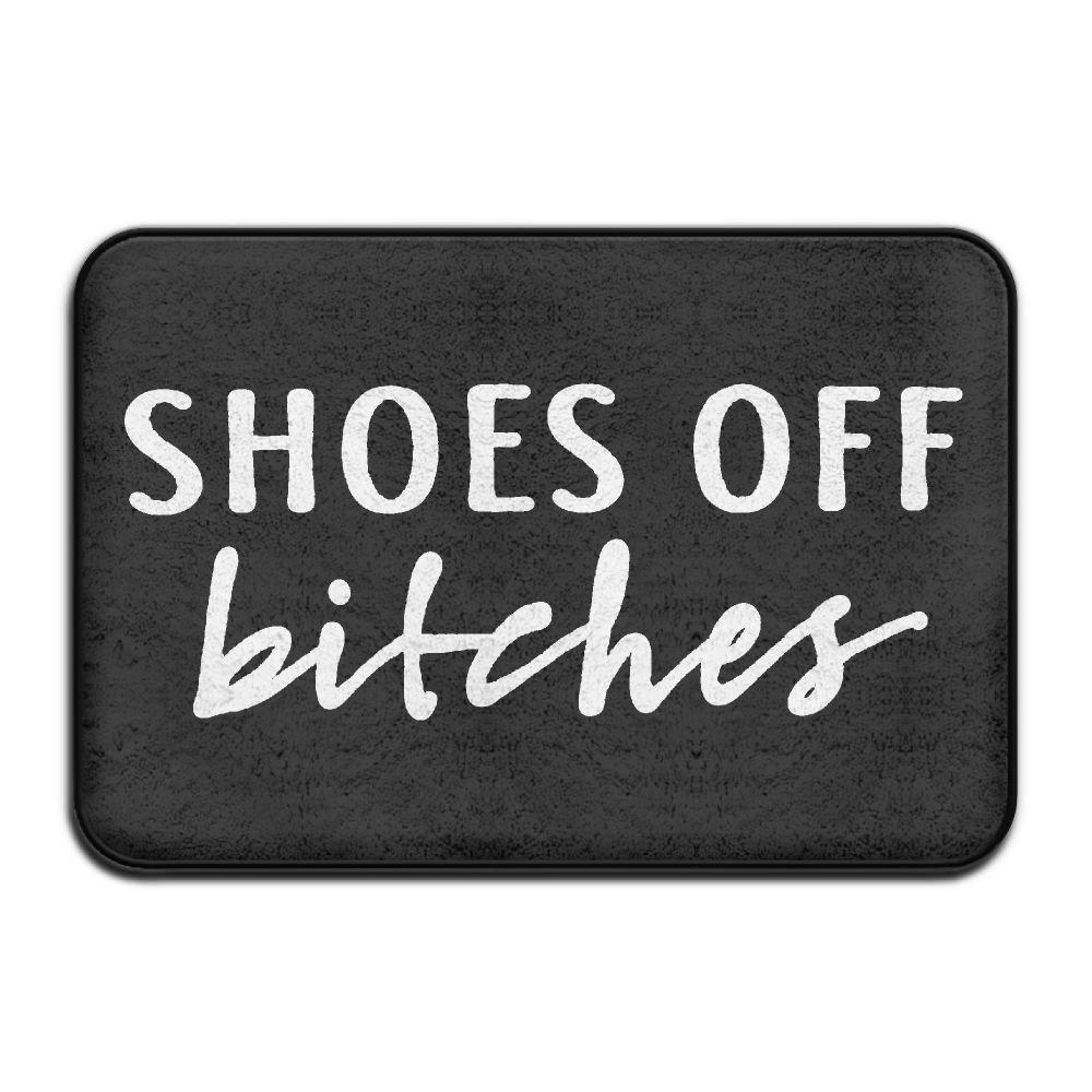 HENDOOR Shoes Off Bitches Non-slip Doormat Door Rug For Indoor,Outdoor,Entrance,Patio,Bathroom,Kitchen,Living Room,Bedroom,Office,Etc