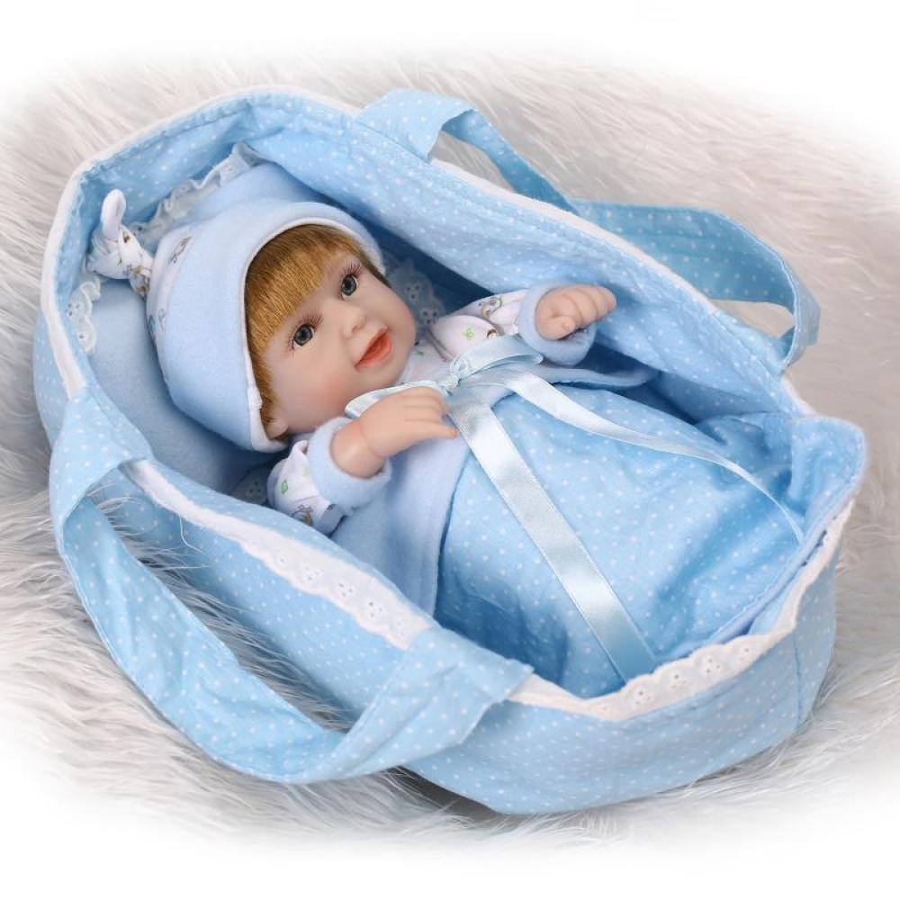 C ZBYY 11Pollici 28Centimetri Reborn Simulazione Bambino Bambola Vinile Siliconico Realistica Magnetica Bocca Giocattolo Ragazza,C
