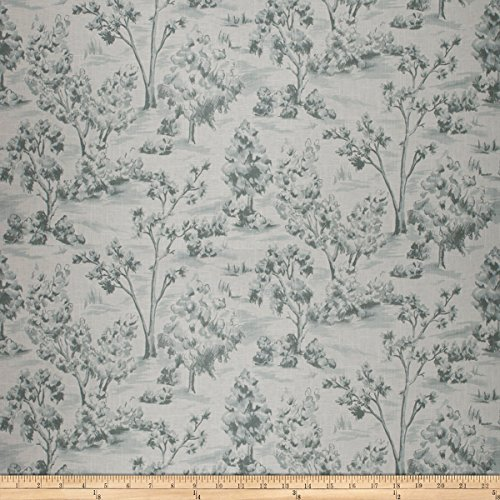 French General Arbe Toile Linen Blend La Mer Fabric by The Yard
