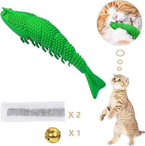 Amazon Com Orisignall Rubber Catnip Toy Toothbrush Refillable