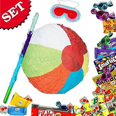 Beach Ball Pinata zum Schlagen mit Süßigkeiten +Zubehör für ...