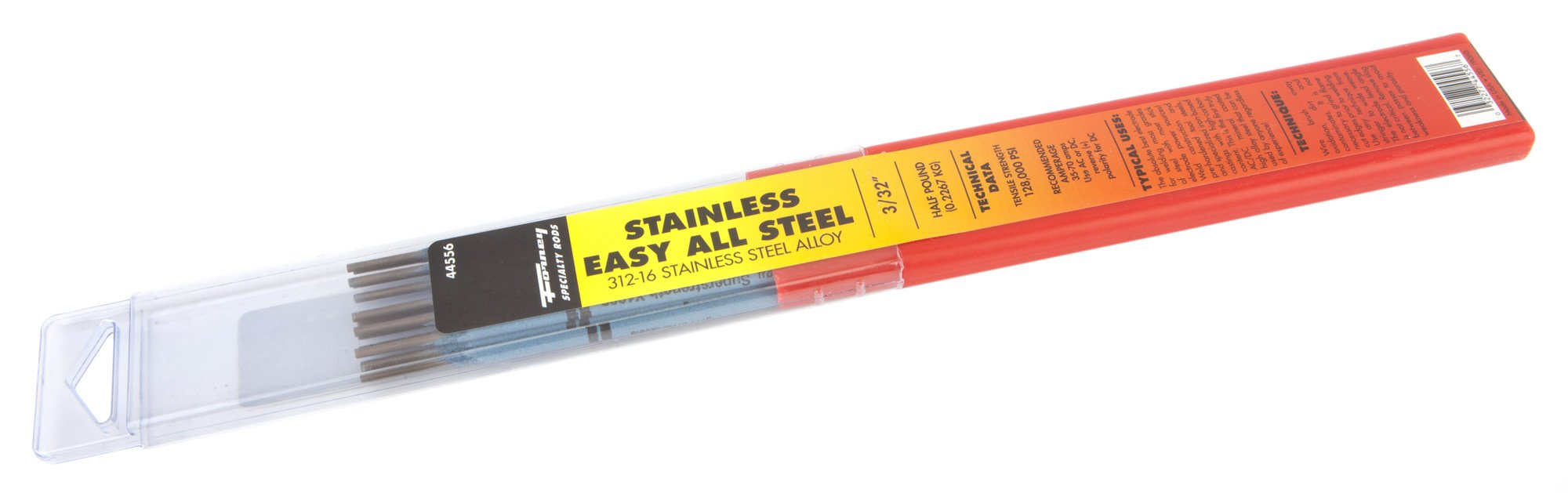 Forney 44556 Stainless Steel Welding Rod, 3/32-Inch, 1/2-Pound