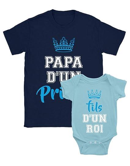 Green Turtle T-Shirts Papa d'un Prince/Fils