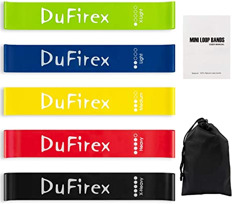 Loop Bands are Skin Friendly comes with Workout Guide Resistance Bands Set