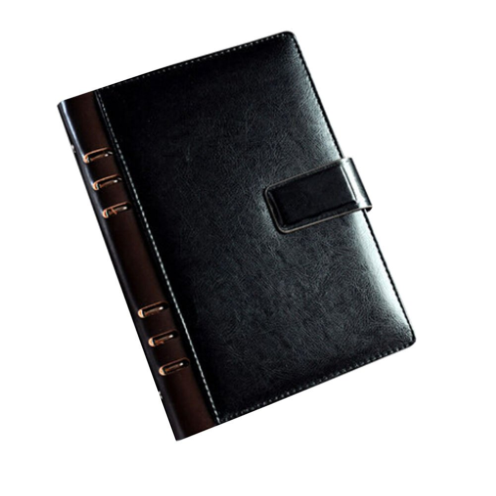 Office Supplies-A5 Loose Leaf Notebook/Leather Notebook Cover,BLACK