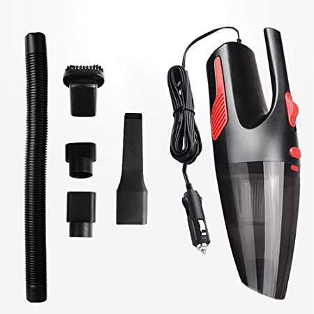 CX ECO Aspirador de Mano con LED Aspirador de Auto con Cable Aspirador de Mano Recargable Lecho seco húmedo con 2200 mAh Batería de Litio: Amazon.es: Hogar