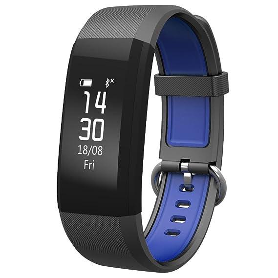 Smartwatch Impermeable Reloj Inteligente Deportivo con Pantalla Grande En Color Cámara Fitness Tracker Pulsera Inteligente Pulsómetro Compatible Android ...
