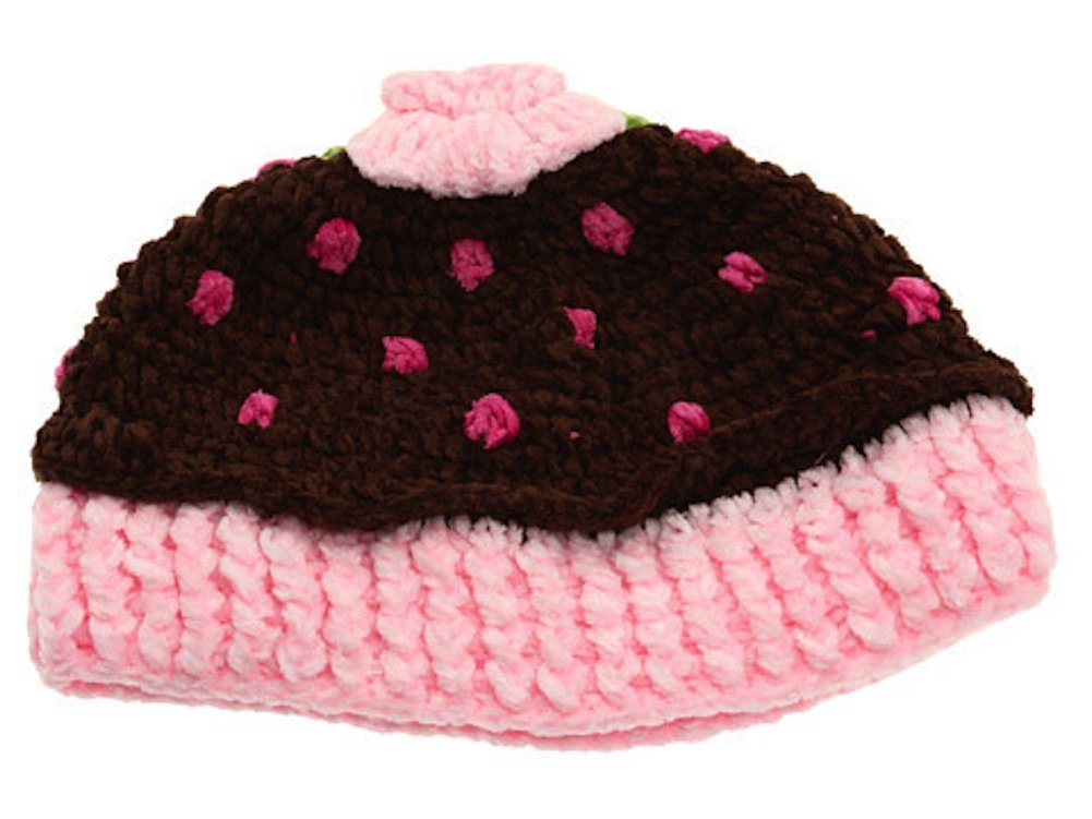 Cupcake Baby Hat Chocolate Brown 6-12 months