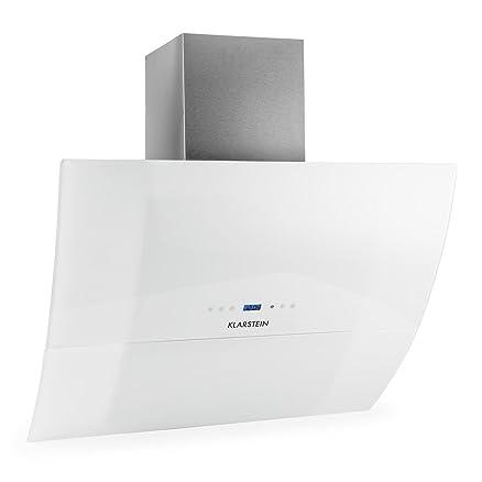 Klarstein RGL90WH Cappa Aspirante in vetro e design moderno (90 cm ...