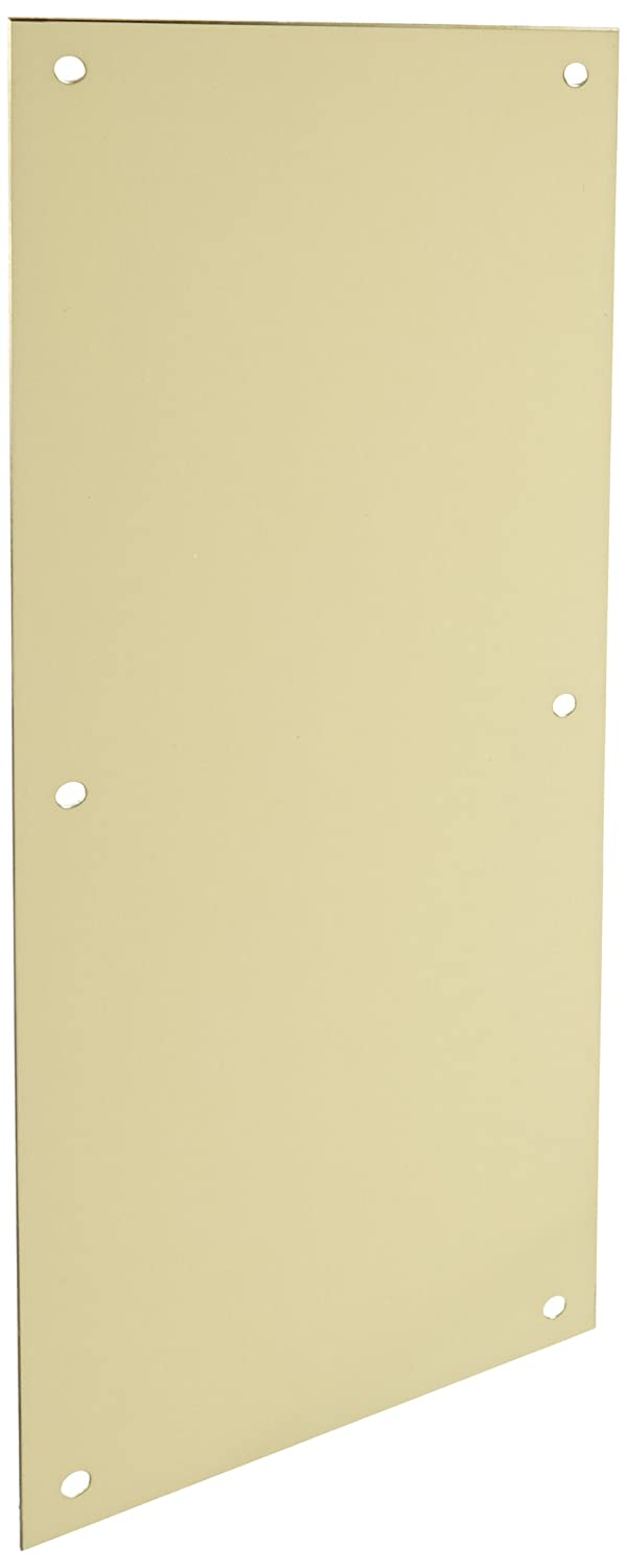 Rockwood 70E.3 Brass Standard Push Plate, Four Beveled Edges, 16' Height x 6' Width x 0.050' Thick, Polished Clear Coated Finish 16 Height x 6 Width x 0.050 Thick Rockwood Manufacturing Company