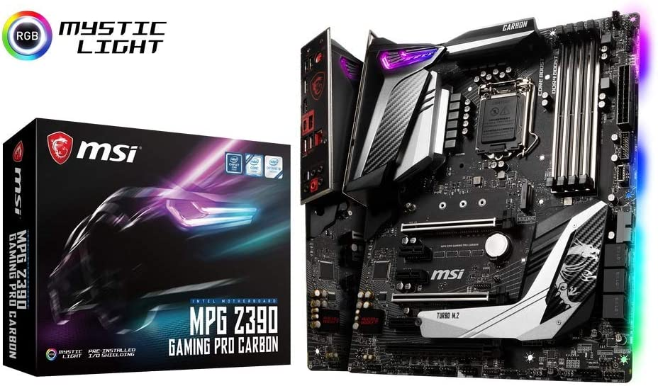 MSI Intel Z390 Gaming Pro Carbon ATX DDR4-SDRAM Motherboard