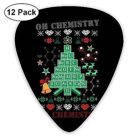 12 púas de Guitarra Oh Chemistree Chemistry Funny Fee Christmas ...