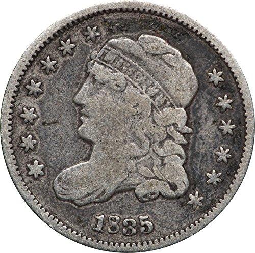 1835 P Capped Bust Half Dime, F, 5C Fine