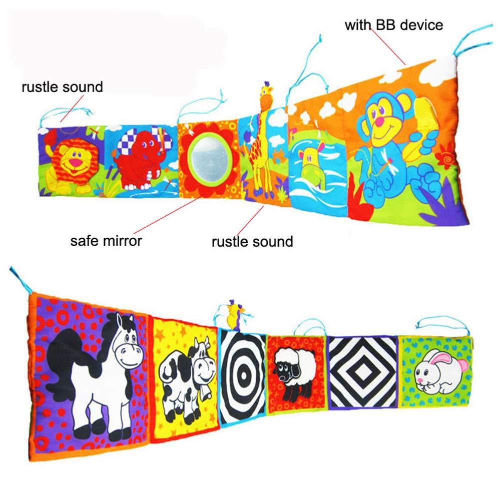 giocattolo per lo sviluppo a contrasto elevato Libro di stoffa per culla giocattolo per lettino dei bambini