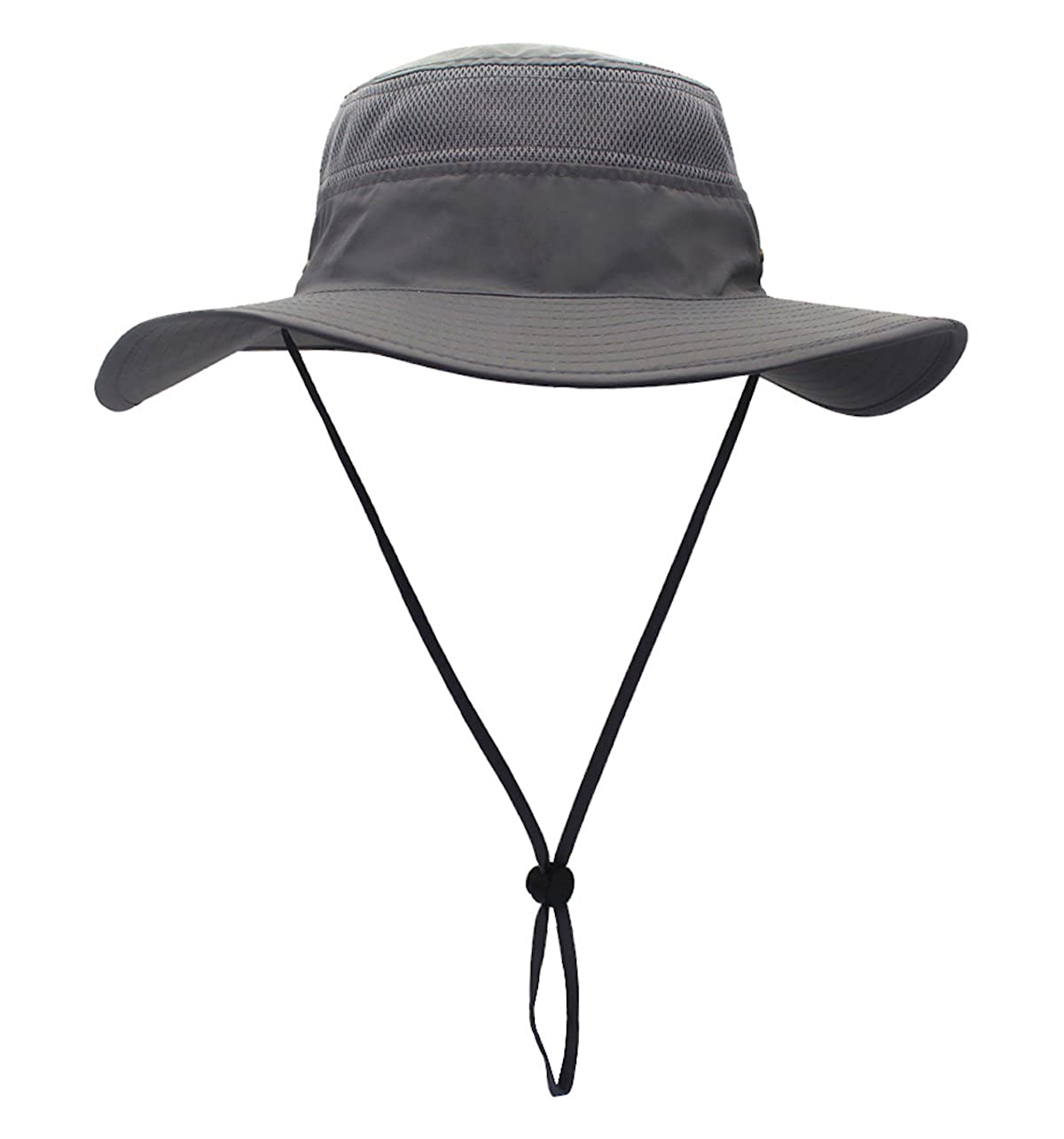 Home Prefer Men's Sun Hat UPF 50+ Wide Brim Bucket Hat Windproof Fishing Hats