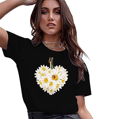 Cinnamou - Camiseta de Manga Corta para Mujer Negro XXX-Large ...