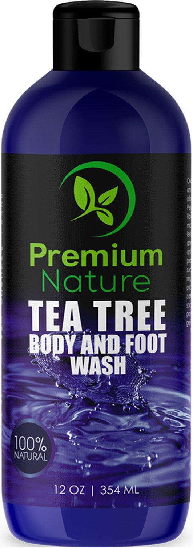 Tea Tree Body Wash Antibacterial - Antifungal Bodywash Tee Tree Essential Oil Soap Cleanser All Natural 100% Pure Shower Gel - Jock Itch Defense Acne Athletes Foot Odor Eczema Ringworm Treatment Men