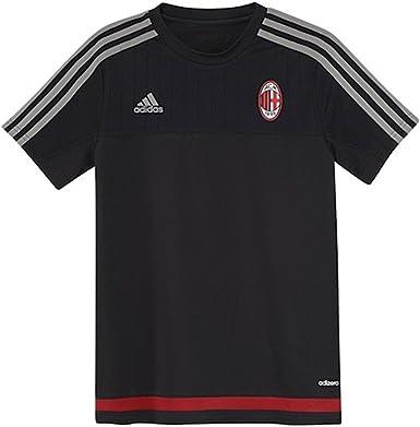 Amazon Com Adidas Youth Ac Milan Training Jersey 15 16 Medium Black Victory Red Clothing