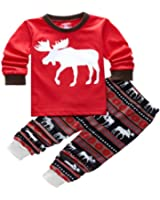 niceEshop(TM) Foonee Fashion Pajamas Cute Deer Printed Top Shirt and Pants Sleepwear Set